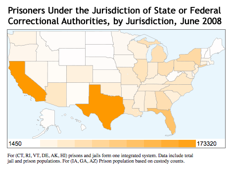 TX PRISON ISSUESPRISON REFORM - Us recidivism rate map